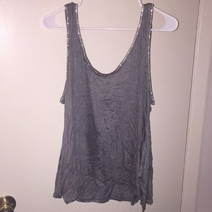 Hm rhinestone outlined tank new